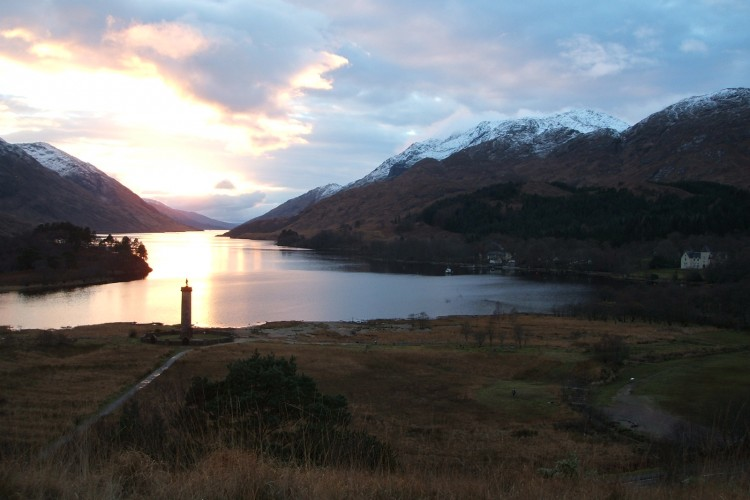 Sunset at the Glenfinnan Monument
