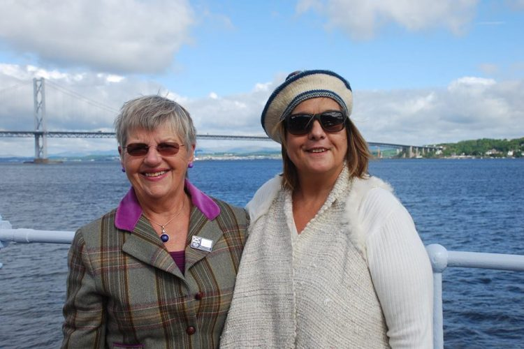 Kathy with Victoria from Argentina at Firth of Forth